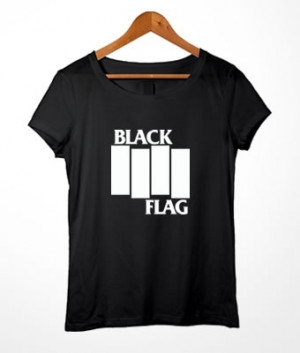 Long Baby Look Black Flag