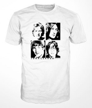 Camiseta John Lennon 4 Faces